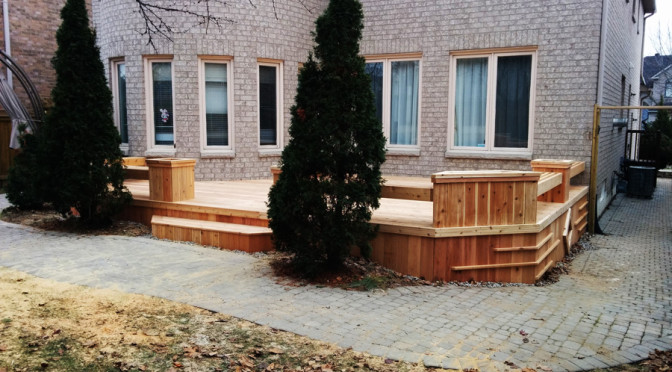 Cedar low profile deck