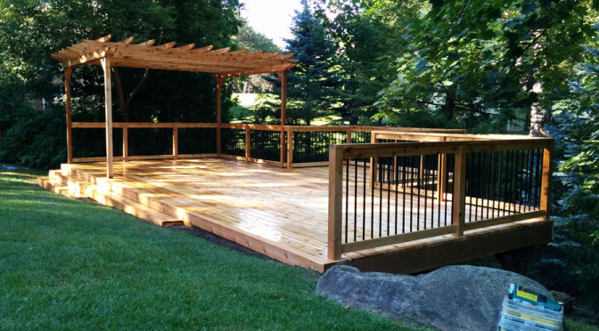 Free Hold Cedar Deck with Pergola