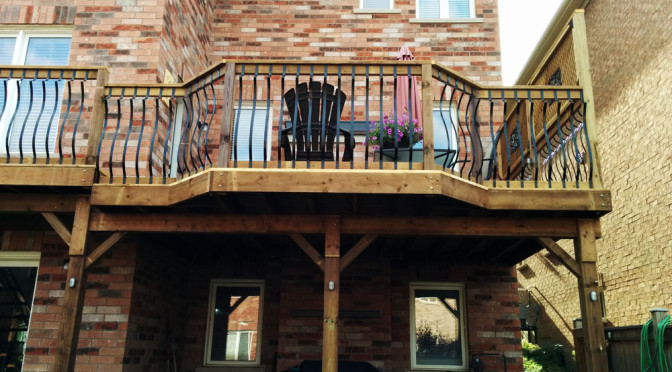 12 foot high deck