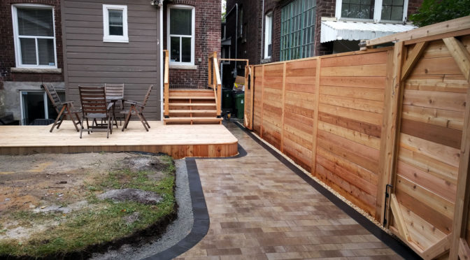 Solution of whole backyard in Toronto Downtown